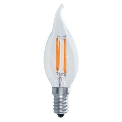 BOMBILLA VELA DECORATIVA E14 LED 4W 2700K