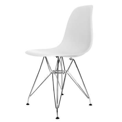 SILLA TOWER CHROME TOP QUALITY BLANCA