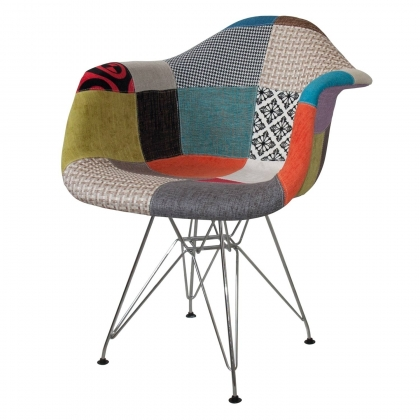 SILLÓN TOWER CHROME PATCHWORK