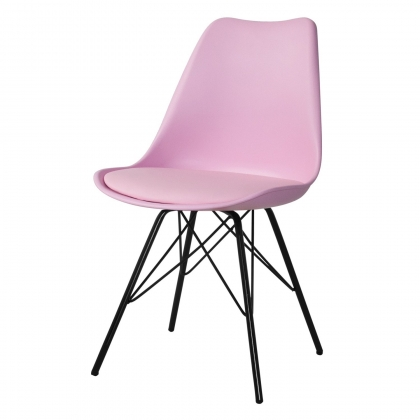 SILLA TOWER METALIC ROSA-NEGRA