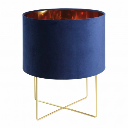 LAMPE DE TABLE VELVET BLEU