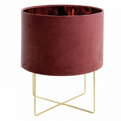 LAMPE DE SALON VELVET MARRON