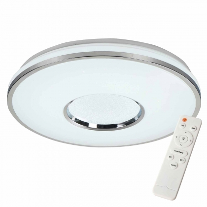 PLAFONNIER LED SUNSHINE 59W RÉGLABLE CHROME