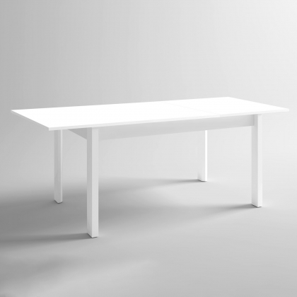 MESA EXTENSIBLE HULTSFRED 140CM BLANCO