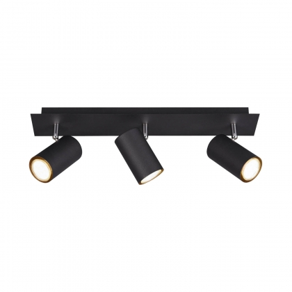 FOCO GRAFTON DE 3 LUCES NEGRO