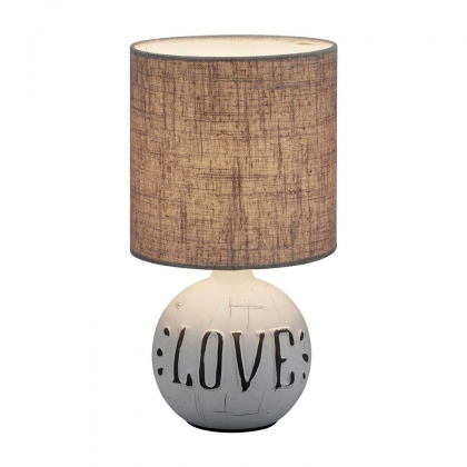 LAMPE DE TABLE SHEPARD CÉRAMIQUE LOVE
