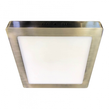 DOWNLIGHT SURFACE CARRÉE LED 18W 4000K CUIR DORÉ