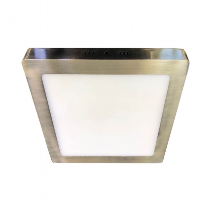 DOWNLIGHT SURFACE CARRÉE LED 12W 4000K DORÉ