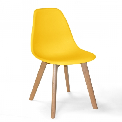 CHAISE TOWER SCARLETT JAUNE BOIS