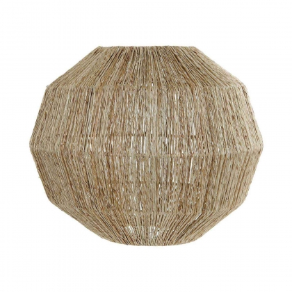 PANTALLA JUTE NATURAL MARRÓN 37 CM