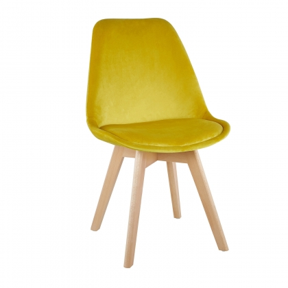 CHAISE TOWER VELOURS MOUTARDE