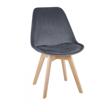 CHAISE TOWER VELOURS GRIS