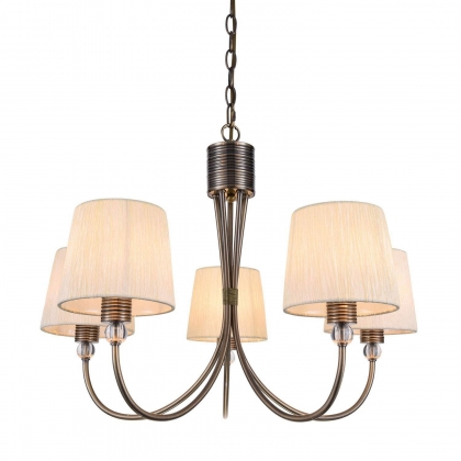 SUSPENSION 5 LUMIERES ANTIQUE