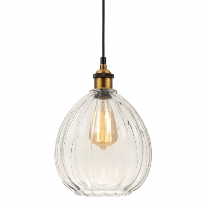 SUSPENSION 1 LUMIERE AERYN VERRE TRANSPARENT