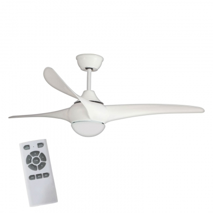 VENTILATEUR DE PLAFOND LED PARRISH BLANC