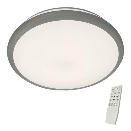 PLAFÓN LED BOSTON BLANCO-PLATA
