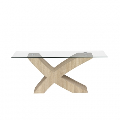 ANTHEA TRANSP/NATURE TABLE BASSE